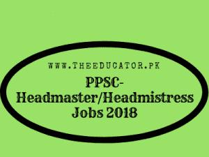 PPSC HeadmasterHeadmistress