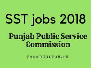 sst jobs in punjab 2018