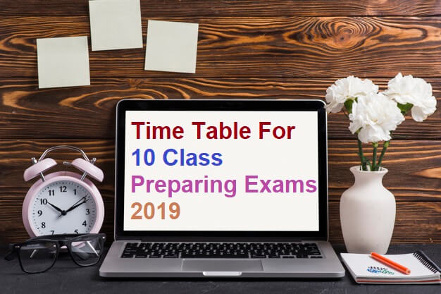10th class exam date 2019