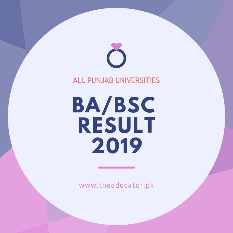 ba bsc result 2019 bzu