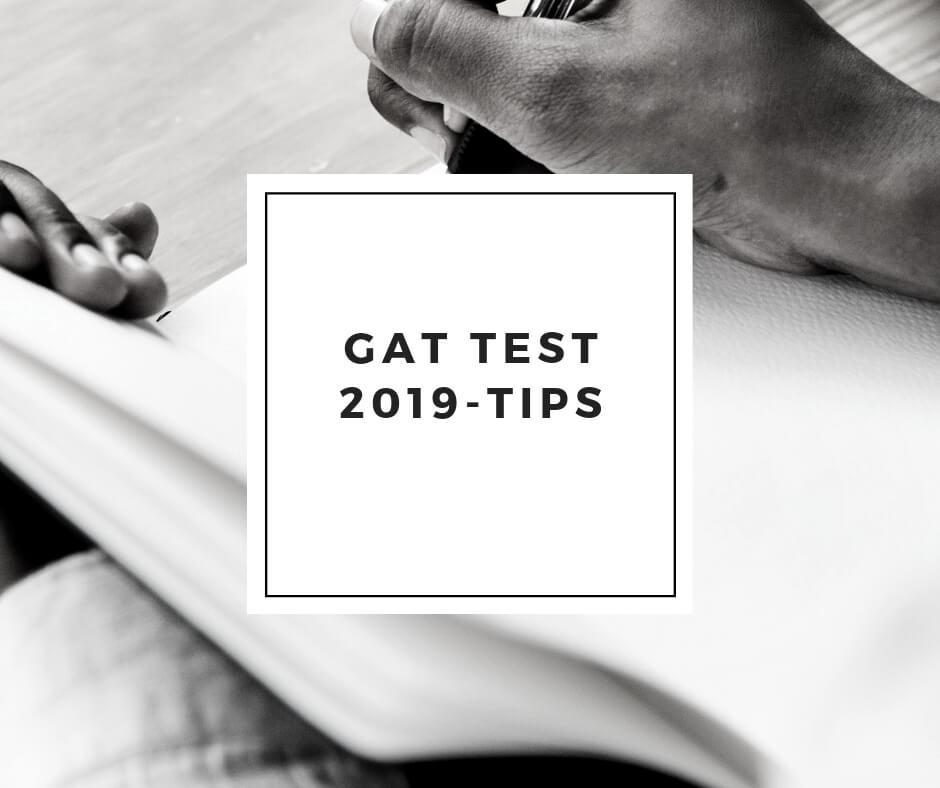 gat test 2019