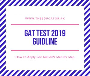 gat test schedule 2019