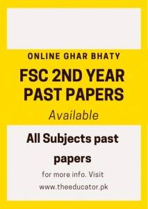 past papers 2nd year lahore board