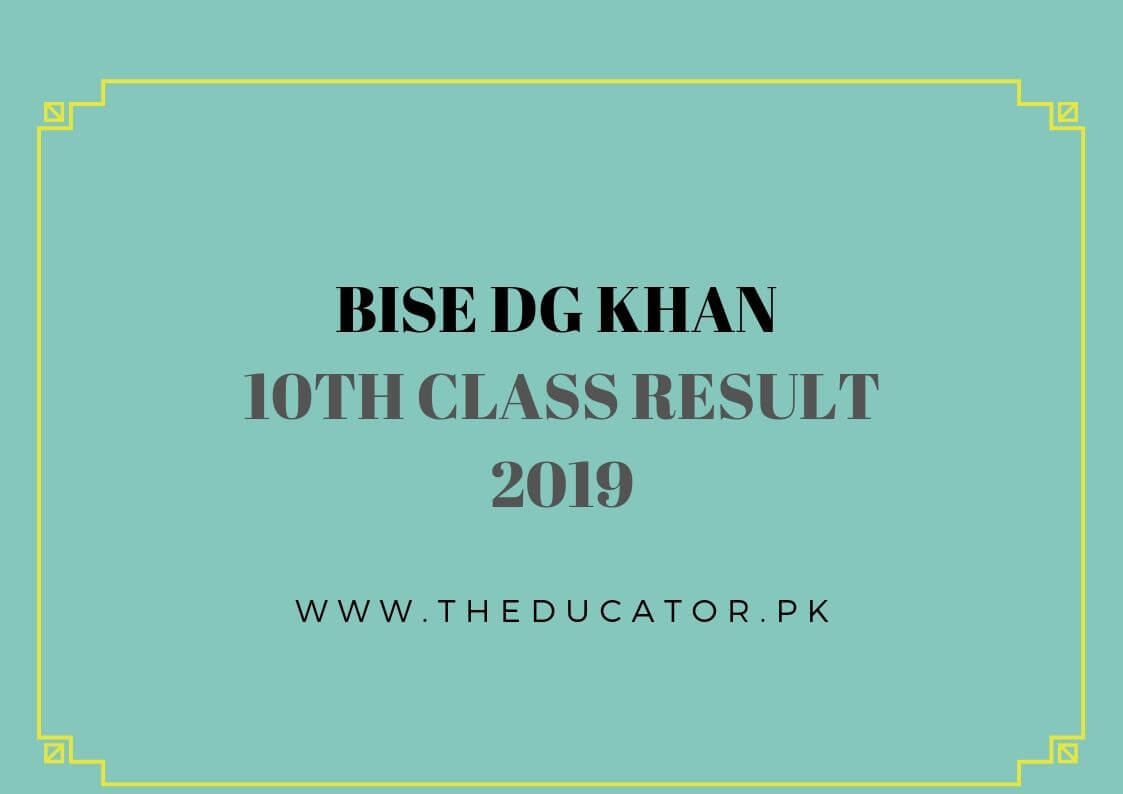Matric result 2019 bise dgkhan