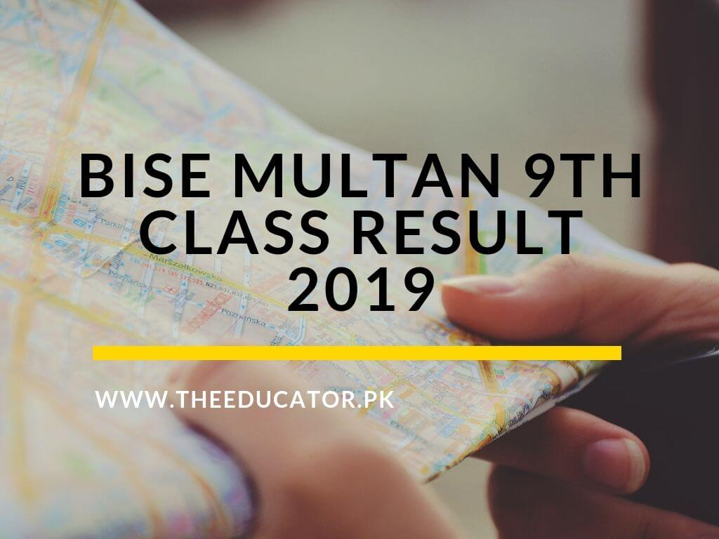 9th class result 2019 BISE Multan