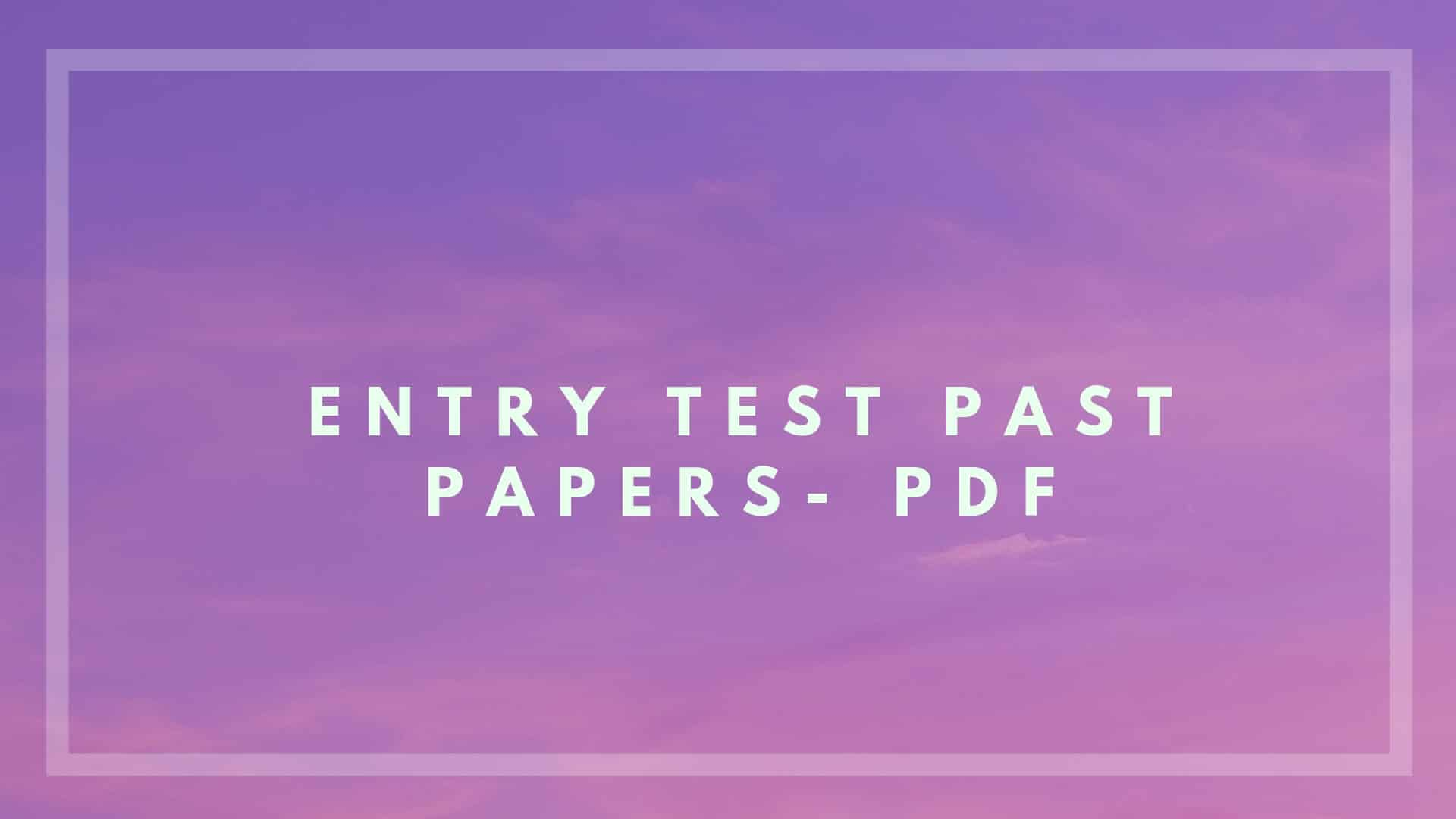 ecat past papers free download