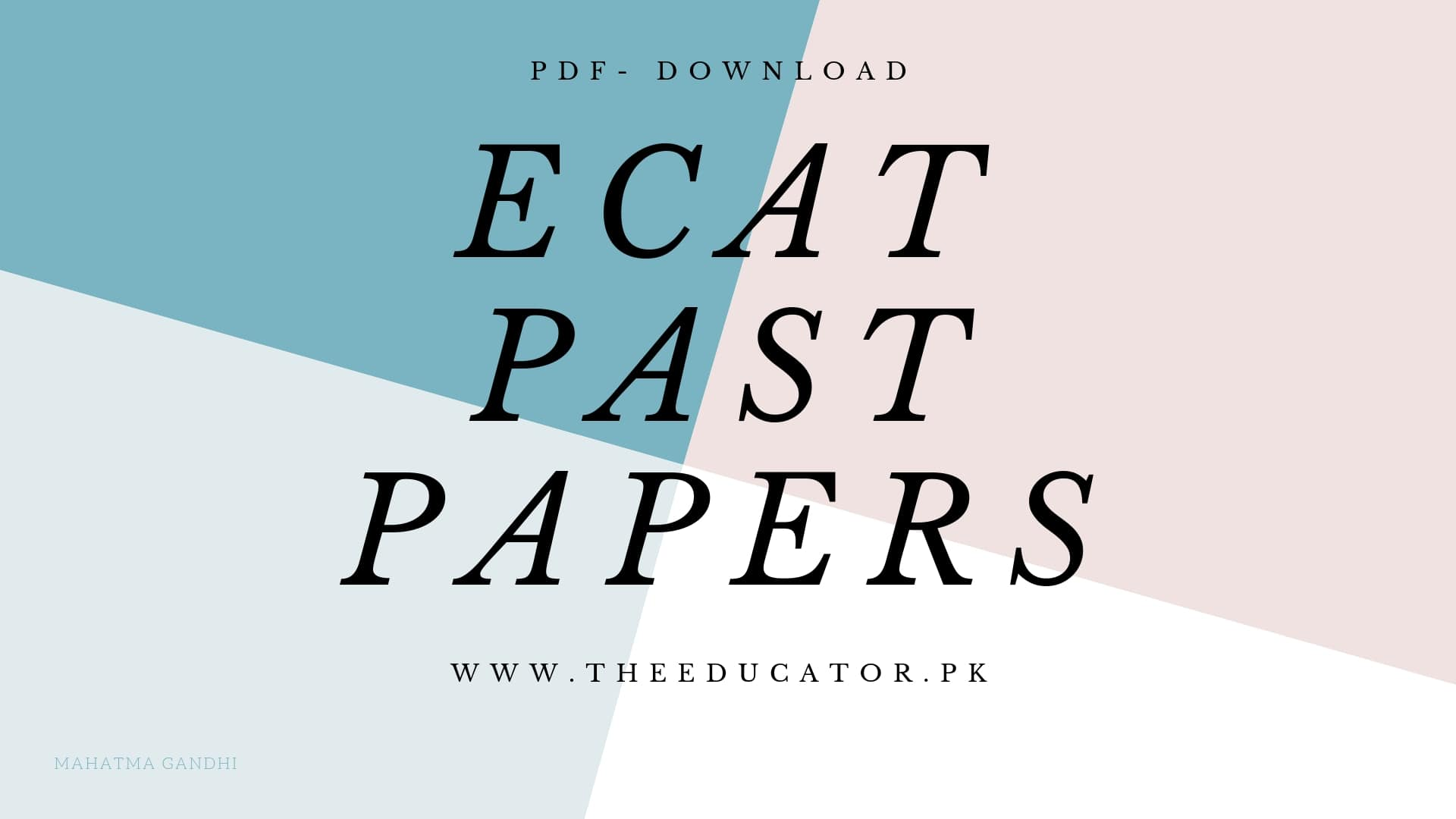 ECAT past papers 2017