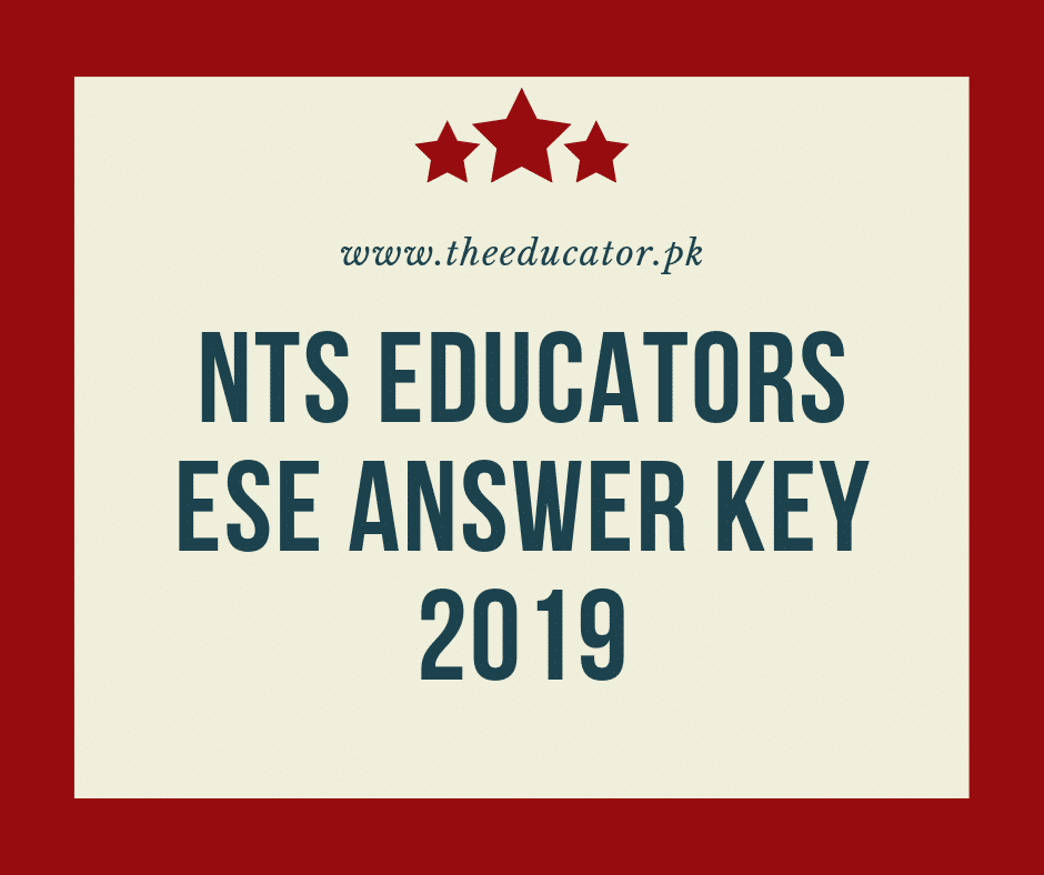 Educators ESE Answer Key