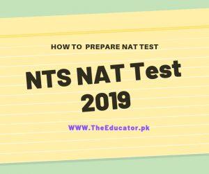 nat test schedule 2019