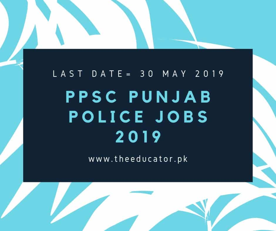 ppsc police department jobs 2019