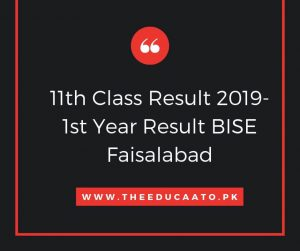1st year result 2019 bise faisalabad
