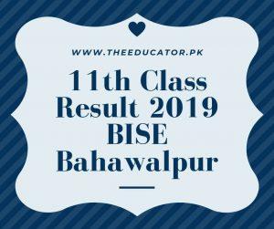 1st year result 2019 bise bahawalpur