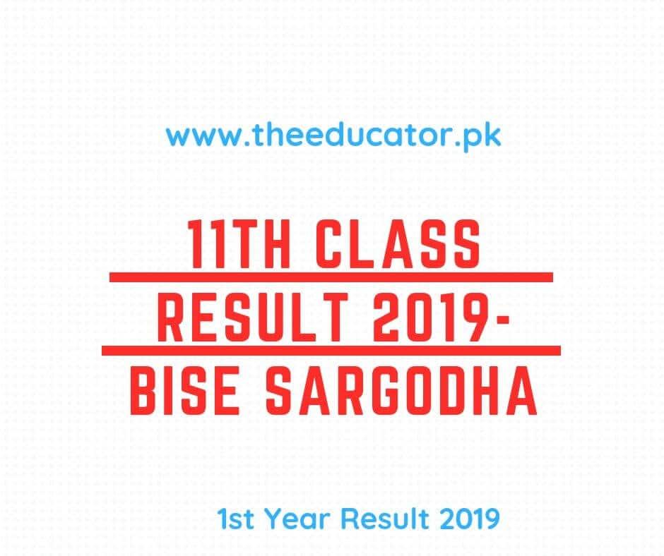 1st Year Result BISE Sargodha