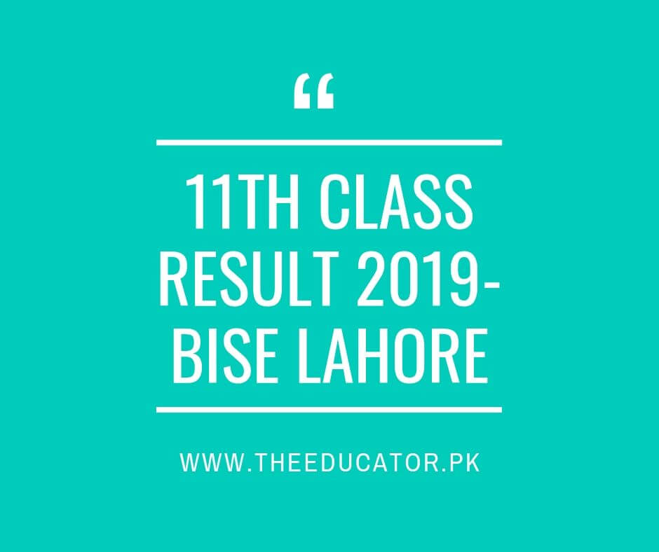 1st year result 2019 bise lahore