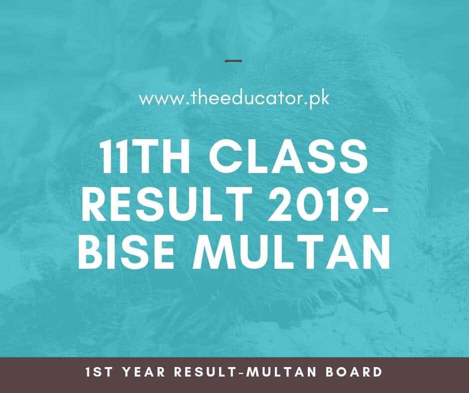 1st year result 2019 bise multan