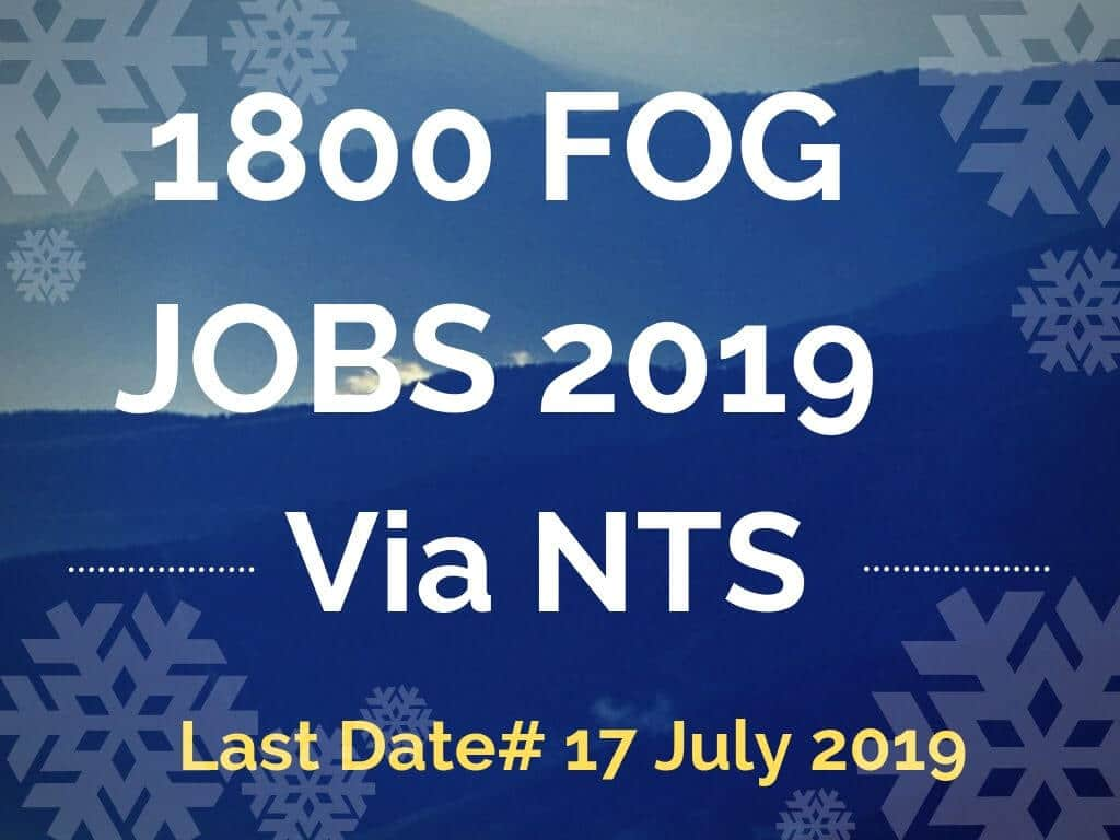 latest fog jobs 2019