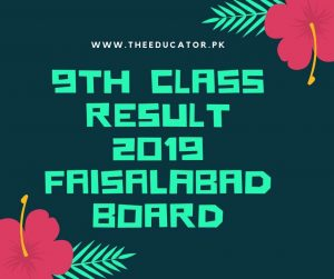 class 9th result 2019 faisalabad board