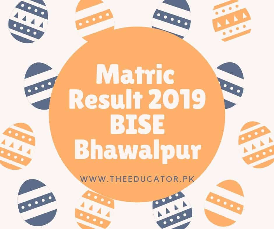 10th class result 2019 bise Bhawalpur