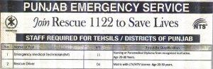 New Rescue 1122 punjab jobs