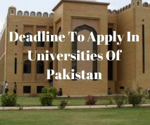 Admission open in University