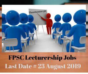 fpsc teaching jobs