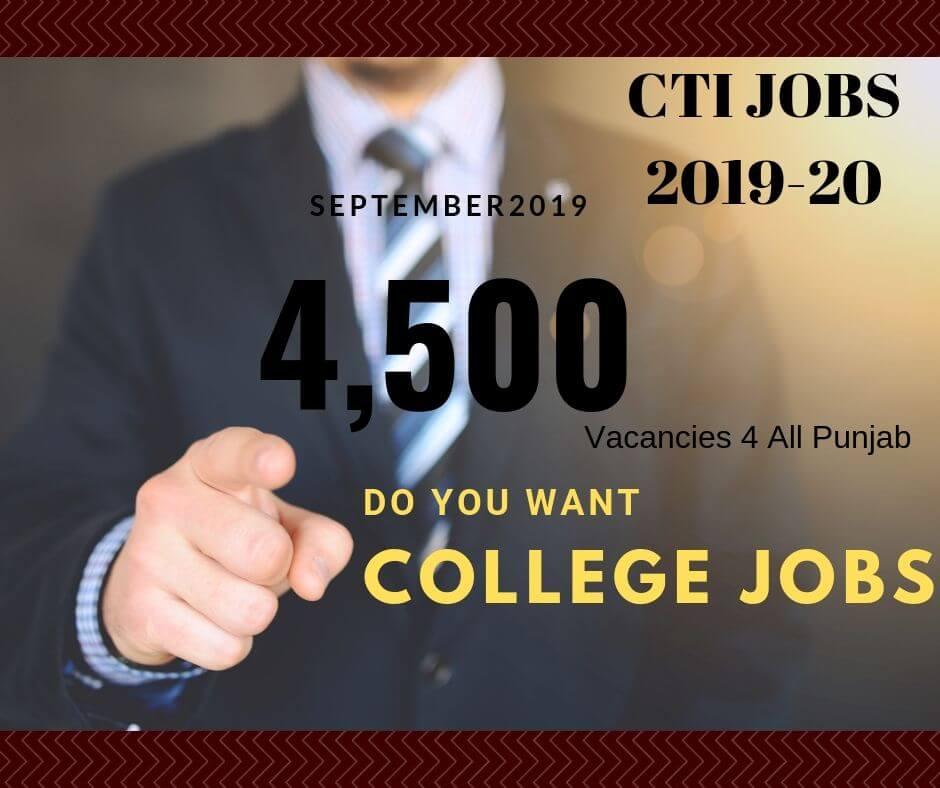 cti jobs 2019-20