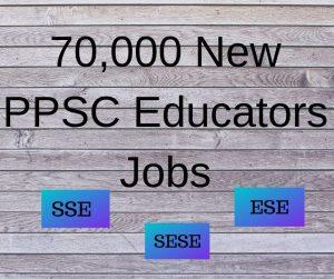PPSC Educators Jobs