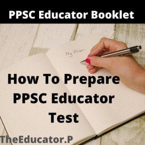 ppsc educator booklet