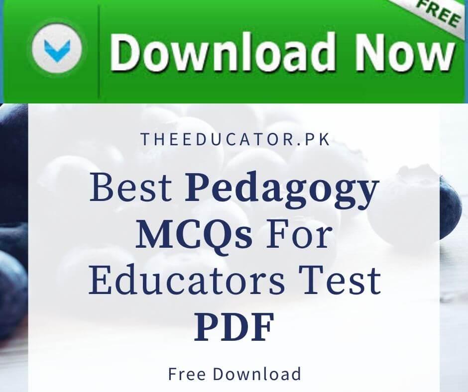 most important mcqs for educators jobs
