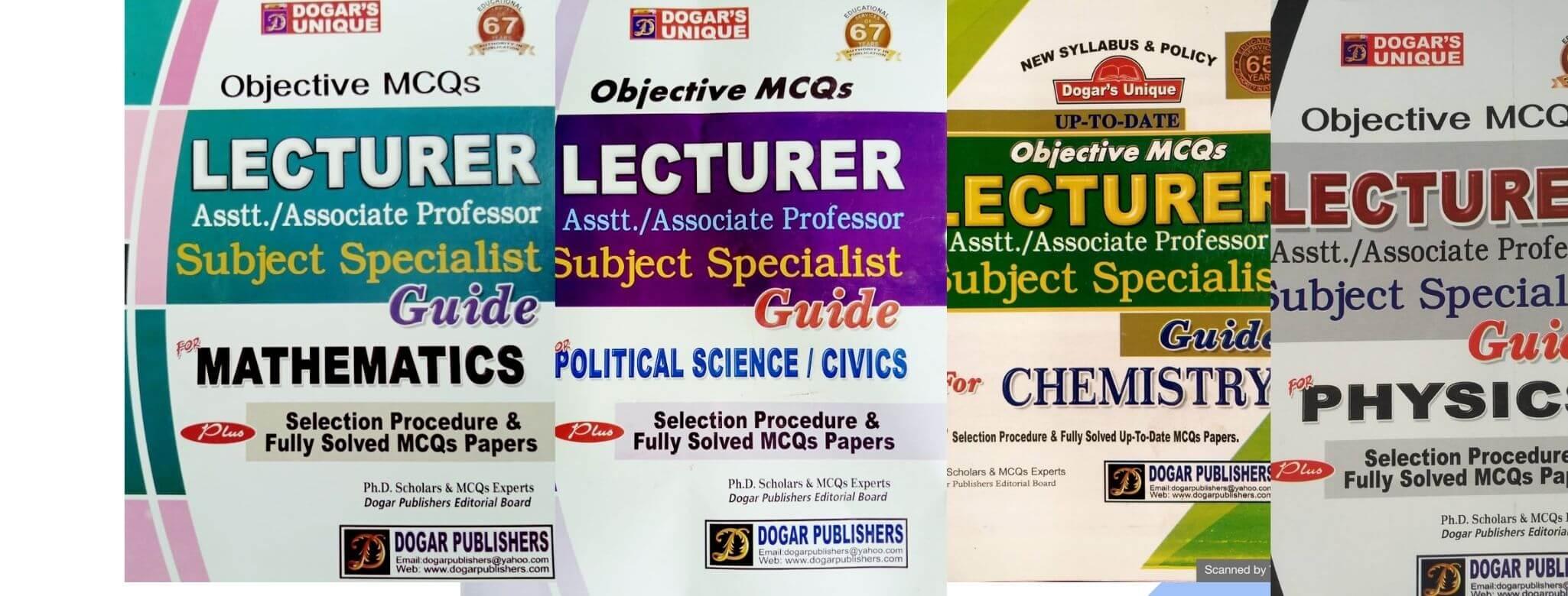 ppsc lecturer preparation books