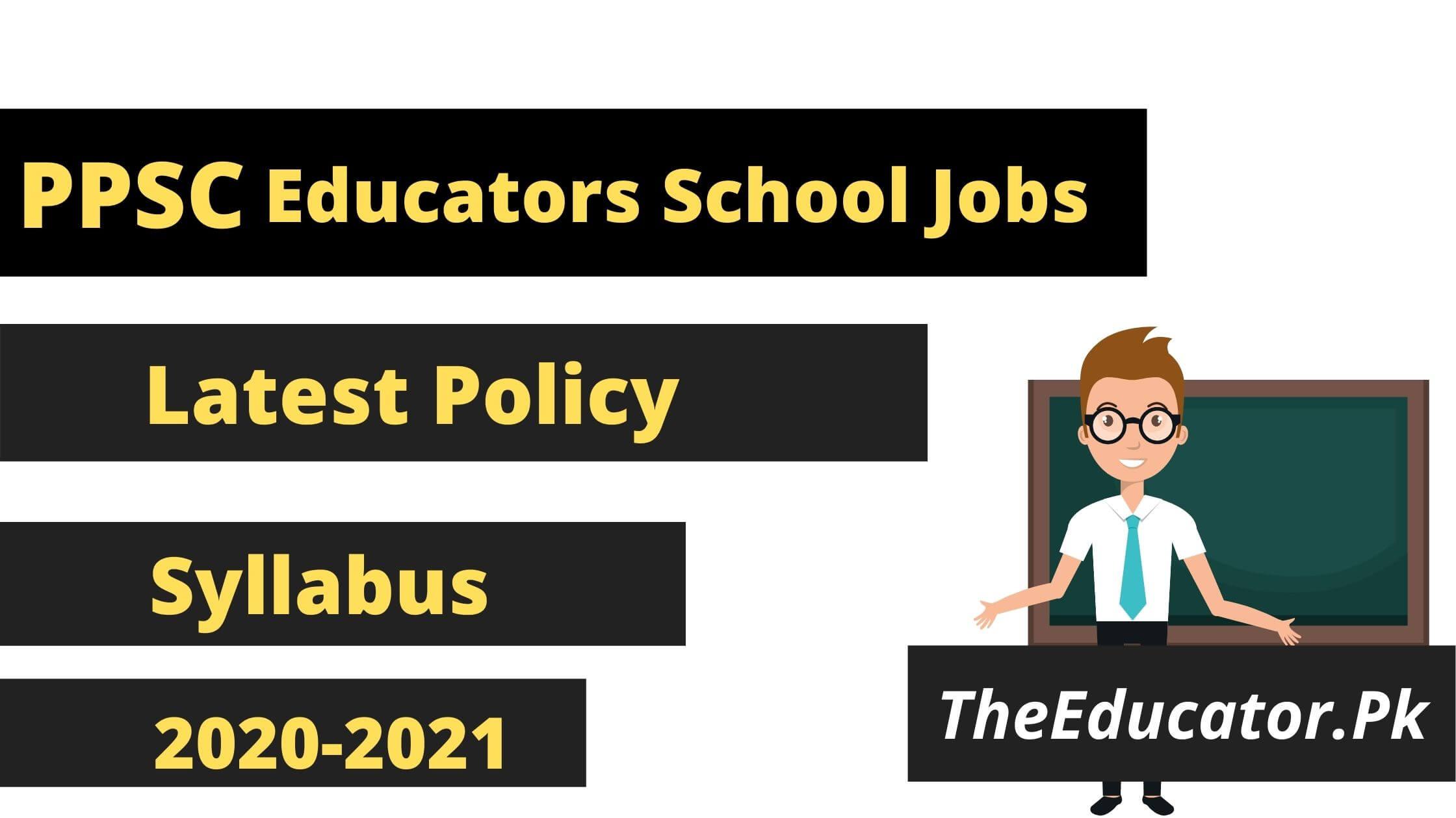 ppsc educators jobs 2021 in Punjab