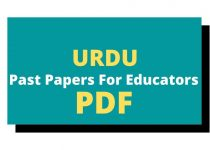 past papers for educators jobs test
