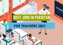 Govt Jobs In Pakistan For Teachers