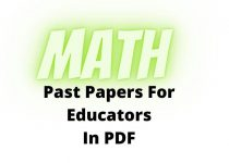 Math Past Papers For Educators Test In PDF