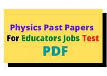past papers for educators jobs test 2021